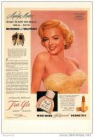 Rare édition FORNEY - CELEBRITES & PUBLICITE - **Marylin MONROE & PRODUITS De Beauté WESTMORE** - CPSM  -TB - Perfume Cards