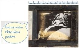 Lastra Positiva In VETRO - PLATE GLASS - Marconista In AEREO - Regia Aviazione - Diapositiva Su Vetro