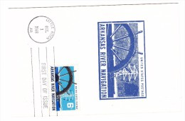 1968 USA Arkansas River Navigation 6c  Postcard First Day Cover - 1961-1970
