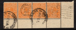 "Australia  1926   ""1/2d  Orange,  Perf 13.5 X 12.5""    X 4   FU   (0) - Usati"
