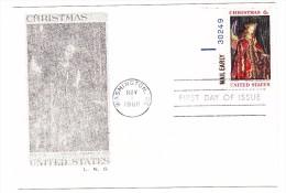 ´1968 USA Christmas 6c Postcard First Day Cover - 1961-1970