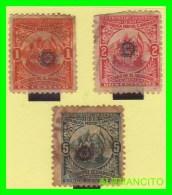 EL SALVADOR -  3  SELLOS DE SERIE     AÑO  - 1899 - El Salvador