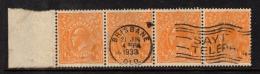 "Australia  1926   ""1/2d  Orange,  Perf 13.5 X 12.5""    X 4   VFU   (0) - Usati"