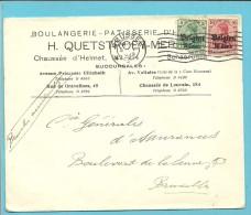 "Lettre TP Germania Cachet BRUSSEL - Entete "" BOULANGERIE / PATISSERIE / SCHAERBEEK ""(VK) - [OC1/25] General Gov."