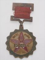REPUBBLICA POPOLARE CINESE - MEDAGLIA MLITARE IN BRONZO PERIODO MAO (4) - Medals