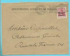 """Lettre TP Germania Cachet BRUXELLES -Censure - Entete """"ADMINISTRATION COMMUNALE DE BRUXELLES"""" (VK) - [OC1/25] General Gov."""