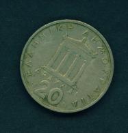 GREECE  -  1976  20d  Circulated Coin - Greece