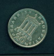 GREECE  -  1988  20d  Circulated Coin - Greece
