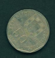 PORTUGAL  -  1989  50e  Circulated Coin - Portugal