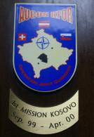 KOSSOVO 2000 - AUCON KFOR CREST ARALDICO, OPERATION JOINT GUARDIAN - Marine