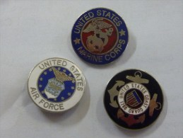 3 Pin's Armée Etats-Unis - Militari