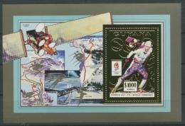 Guyana 1992 Olympiade Albertville Block 205 A Postfrisch (C22748) - Guyana (1966-...)