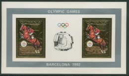 Guyana 1992 Olympiade Albertville 3890 A Kleinbogen Postfrisch (C22777) - Guyana (1966-...)
