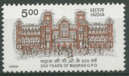 Indien 1986 200 Jahre Hauptpostamt Madras 1063 Postfrisch - Ungebraucht
