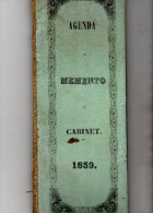 AGENDA  MEMENTO CABINET 1859 - Libros, Revistas, Cómics