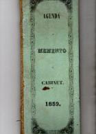AGENDA  MEMENTO CABINET 1859 - Blank Diaries