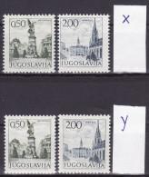 YUGOSLAVIA 1972. Definitive, MNH (**), Mi 1476/77 X, Y - 1945-1992 République Fédérative Populaire De Yougoslavie