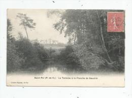 Cp , 62 , SAINT POL , La TERNOISE à La Planche De GAUCHIN , Voyagée 1906 , Semi-bromure A. Breger Frères - Saint Pol Sur Ternoise