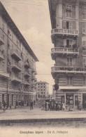 10265-CORNIGLIANO-GENOVA-VIA A. PELLEGRINI-1913-ANIMATA-FP - Genova (Genoa)