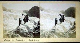 74 CHAMONIX MONT BLANC  GLACIER DES BOSSONS  ALPINISME  MONTAGNE  PHOTO  STEREOSCOPIQUE - Stereo-Photographie