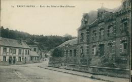 76 SAINT SAENS / Ecole Des Filles Et Rue D'Haussez / - Saint Saens