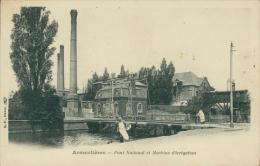 59 ARMENTIERES / Pont National Et Machine D'Irrigation / - Armentieres