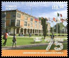2015 MÉXICO 75 Aniv. De La Universidad De Las Américas De Puebla MNH College, Education, FLAGS University PUEBLA - Mexico