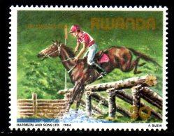 RWANDA. N°1149 De 1984. Equitation/J.O. De Los Angeles. - Jumping