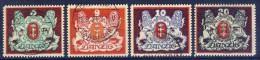 ##B1087. Germany / Danzig 1921-22. 4 Items. Michel 87x,99x,88-89y. Cancelled(o) - Dantzig
