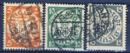 ##K2449. Germany / Danzig 1924. Officials. Michel 41-43. (o) - Dantzig
