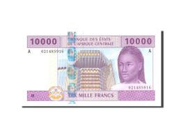 États De L'Afrique Centrale, 10,000 Francs, 2002, Undated, KM:205Eh, NEUF - États D'Afrique De L'Ouest