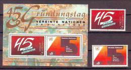 United Nations Wien 1990 Y 45th Ann Of UNO Organisation Mi No 104-05 + Bl 5 MNH - Autres - Europe