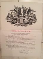 """Affiche """"Rhin Et Danube"""" - Ordre Du Jour N° 10, P.C., Lindau, Le 27 Juillet 1945. Général D'armée De Lattre De Tassigny - Guerre 1939-45"""