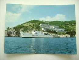 MOTONAVE  DAUNIA  VIESTE  HOTEL  DEL  FARO  NON       VIAGGIATA  COME DA FOTO  NAVE  SHIP PIROSCAFO - Paquebots