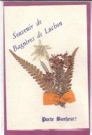 31 SOUVENIR DE BAGNERES DE LUCHON - Porte Bonheur    ( Fleurs Séchées ) - Other Municipalities