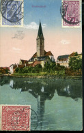 AUSTRIA 1922 KNITTELFELD TCV INFLA POSTCARD IGNAZ SCHLAMBERGER PRIVATE CANCEL - Cartas