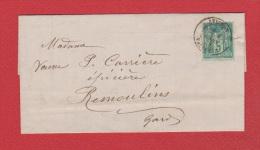 Facture // D'Avignon // Pour Remoulins  // 4 Mars 1882 // - 1877-1920: Semi-Moderne