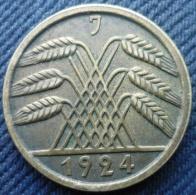 ALLEMAGNE.WEIMAR REPUBLIC.DEUTSCHES REICH.50 RENTENPFENNIG 1924 J - [ 3] 1918-1933 : Republique De Weimar