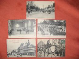 Aube Troyes 5 Cartes Animées Fêtes Gare Fg Croncels .. - Troyes