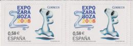 D 1091) Spanien 2007 Mi# 4239 (2x0,58) **: Weltausstellung EXPO 2008, Saragossa, Fluvi - Weltausstellung