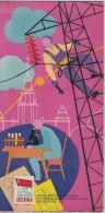 EXPO-58-BRUXELLES-EXPOSITION UNIVERSELLE ET INTERNATIONALE-URSS-RUSLAND-BROCHURE-DEPLIANT-MOOI ! ! - Publicités