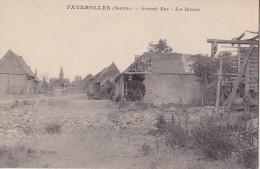 FAVEROLLES Grande Rue Les Ruines - Francia