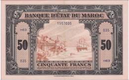 BILLET - MAROC 50 Francs Du 01 03 1944 - Pick 26 - SPL - Morocco