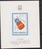 OLYMPIC GAMES: 1968 - ROMANIA - FINE SHEET - GRENOBLE - WINTER - SHEET  MNH ** - Inverno1968: Grenoble