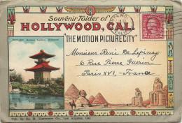 HOLLYWOOD   CAL.  THE  MOTION PICTURE   CITY  ( 10 Vues X 2 =  20 ) - Etats-Unis