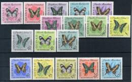 1963 GUINEA SERIE COMPLETA ** FARFALLE - Guinea (1958-...)