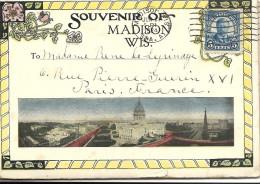MADISON WIS  . CARNET  DE  8  CP  X 2  16  VUES - Madison
