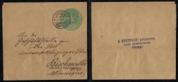 DEMIR TACHE - DEMIRTASCH - ANDRINOPLE - EDIRNE - TURQUIE / 1914 ENTIER POSTAL POUR L ALSACE  (ref 1380) - 1858-1921 Ottoman Empire