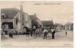 Aube : Bernon : Place Et Café De La Gaîté - France