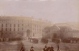 Photo Ancienne Militaire Ecole Caserne - Guerre, Militaire
